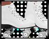 S! White Roller Skates