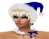 X-MAS BLUE HAT/PLATINUM