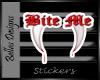 Bite me vamp sticker