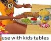 Kids Eating Food animate