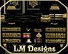 Black/Gold Dresser