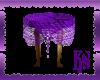*KS* Table W/Purple Lace