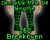 Derivable 3/4 Lengths