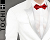 #T Regal Suit #White-Red