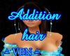 Addition hair turquoise