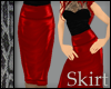 Leather Red Pencil Skirt