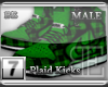 [BE] Green Plaid|Kicks M
