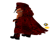 Red leather cape