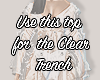 I│Clear Trench Top
