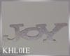 K xmas Joy word sign