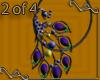 VA Peacock Earrings