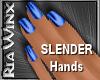 Wx:Slender Dk Blue Nails