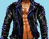 Black/Blue LeatherJacket