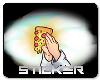 Pray to Pizza Sticker