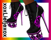 [L] Purple rose Boots