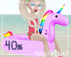 Kid unicorn floatie 40%
