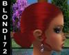 Red Bun Hair