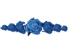 group of roses in blue