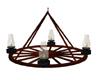 western wheel chandelier