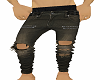 R&R TAN RIPPED JEANS