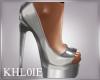 K silva silver heels