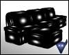 Cozy black PVC sofa