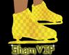 Custom~Yellow Ice Skates