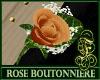 Boutonniere Rose Orange