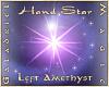 Hand Star – L Amethyst