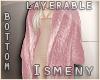 [Is] Fur Long Coat Pink