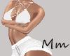 -Mm- White Short & Top