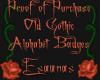 Old Gothic Alpha. Badges