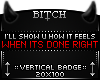 !B Done Right Badge