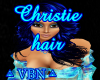 Christie hair blue dark