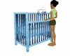 baby boy cot,& mobile