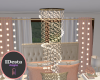 Peachy gold chandelier