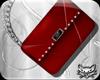 ! Red silver purse