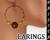 (ISA)WOOD BEADS EARINGS