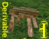 ^j^Rustic Picnic Table