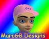 Pink Gay cap