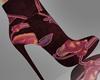 Purple Velvet AnkleBoots