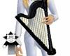 Angelic Black Harp