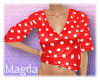 ! Red Pin Up Top