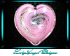 Glass Heart - Pink Topaz