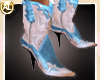 COWGIRL PINK/BLUE BOOTS