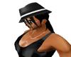 Hair & black cap