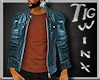 TWx: Teal Leather & Tank