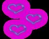 neon purple hearts