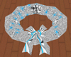 (FDL) Silver Blue Wreath