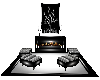 Black~White Fireplace